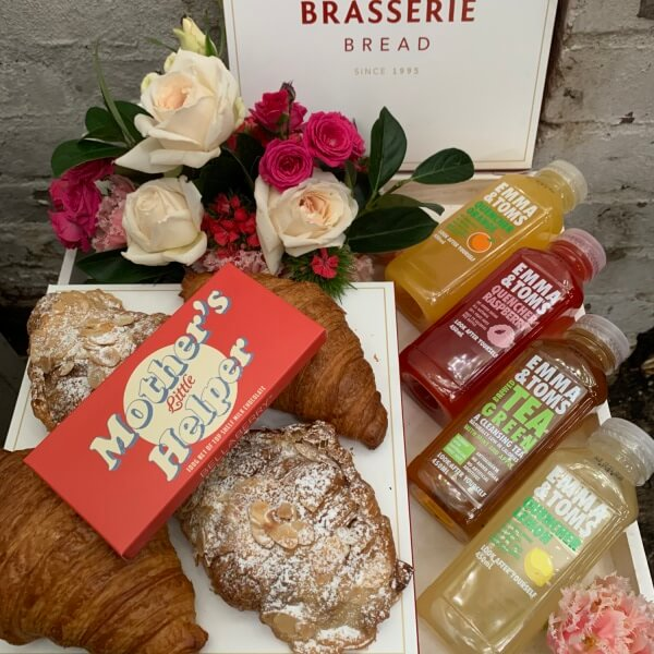 Juices, French Croissants and Chocolate Breakfast
