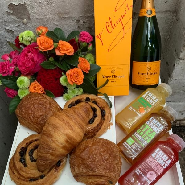 Veuve Continental Pastries Breakfast