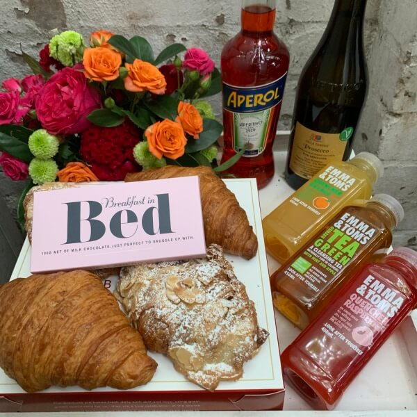 Aperol French Croissants and Chocolate Breakfast